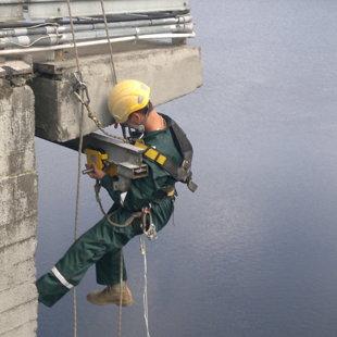 montāžas darbi un betona paraugu ņemšana HES